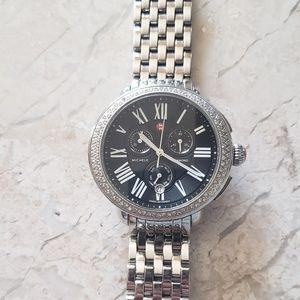 Michele TRUNK SHOW black serein watch